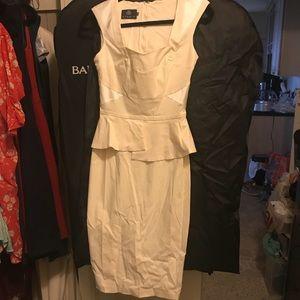 ASOS Cream Sheath Dress, Size 10